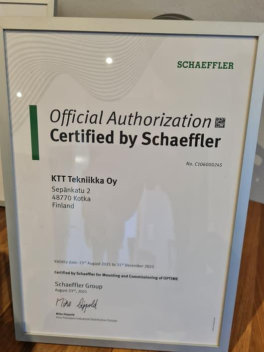 KTT Tekniikasta, pohjoismaiden ensimmäinen virallinen Schaefflerin optime partneri.